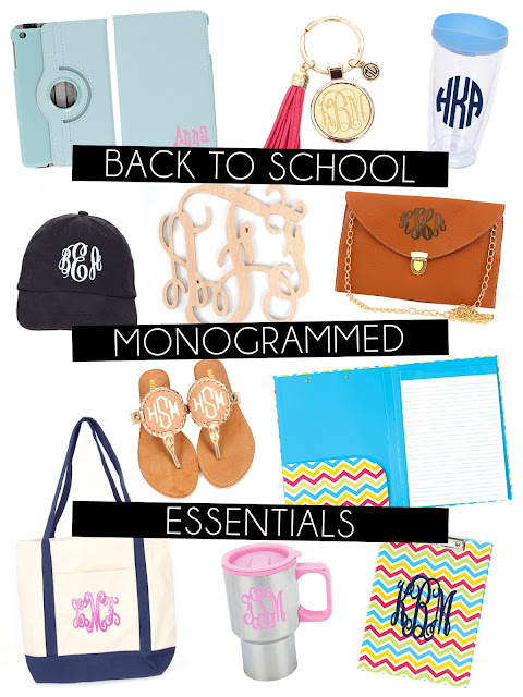 Collage of White Background of School Supplies Items