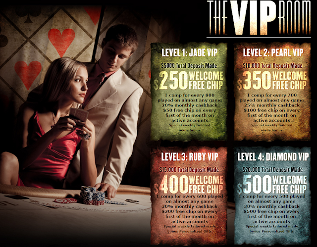 VIP Benefits from Palace of Chance Casino