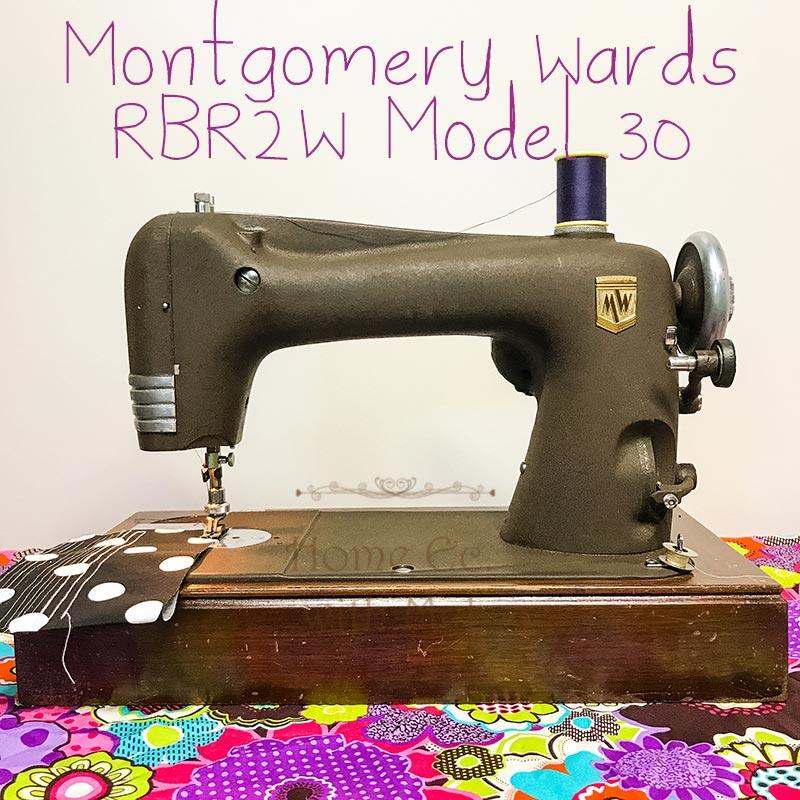 Learn more about the Montgomery Wards RBR2W Model 20 Vintage Sewing Machine circa 1941