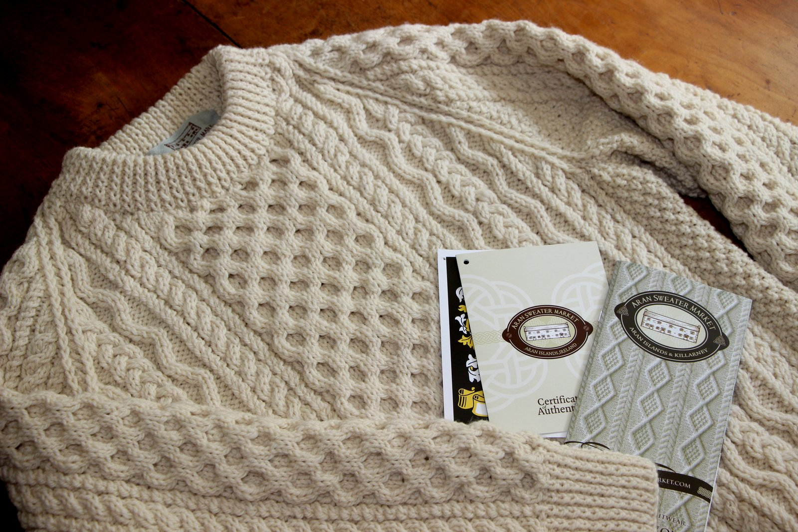 Salt Water New England: The Clan Aran Sweater