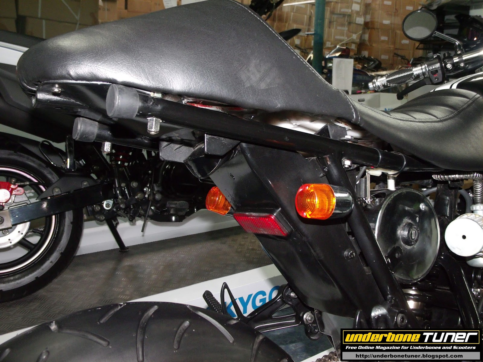 underbone tuner modified bikes  skygo pony cafe racer