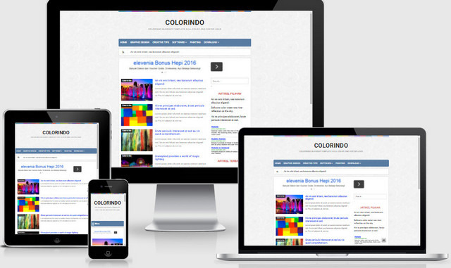 Colorindo Professional Responsive Blogger Templates