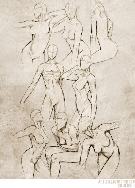 Resultado de imagem para female body study drawing