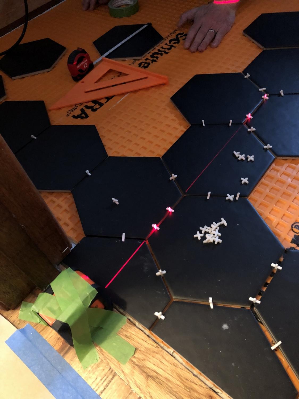 how to lay big hexagon tile week 3 of