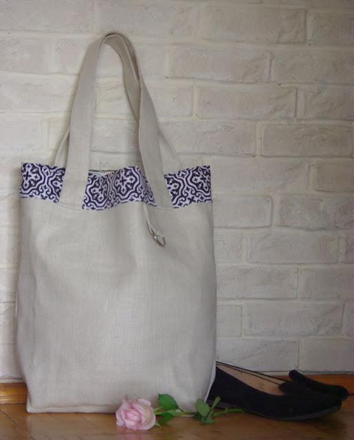 0f41ddc39b651 Shabby Shop  Lniane torby