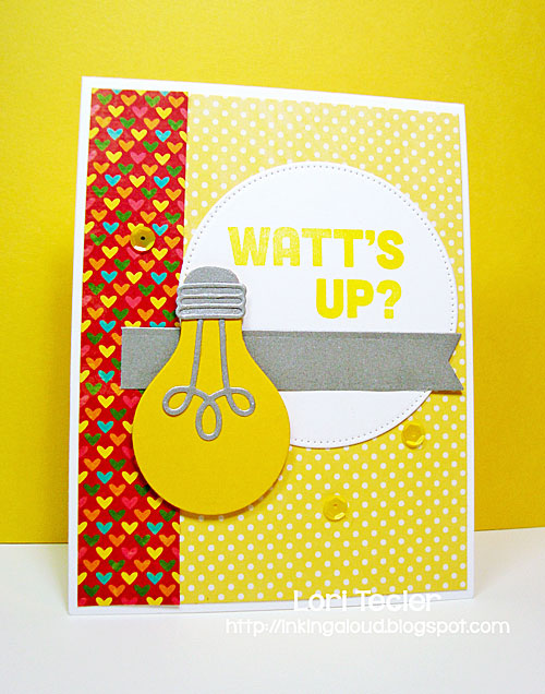 Watt's Up? card-designed by Lori Tecler/Inking Aloud-stamps and dies from My Favorite Things
