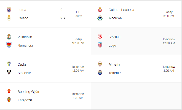 Jadwal Liga Spanyol 2