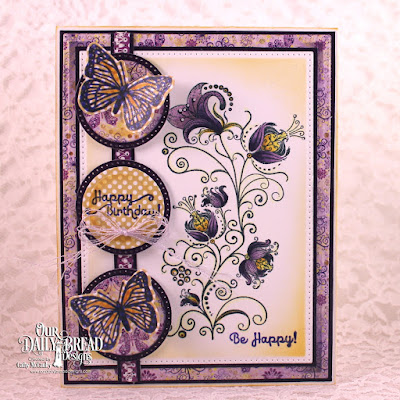 Stamp Sets: Seeds of Today, Trois Jolies Papillons, Paper Collections: Whimsical Wildflowers, Plum Pizzazz, Custom Dies: Pierced Rectangles, Circles, Pierced Circles, Tres Papillon