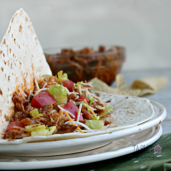 Slow Cooker Mexican Pulled Pork Tacos #Porksgiving