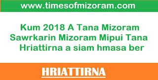 Mizoram Mipuite Tana Hriattirna Pawimawh 2018