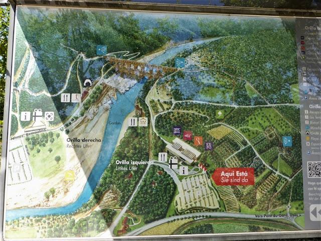 Mapa de situación del Pont du Gard