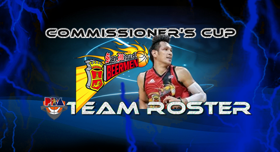 List of San Miguel Beermen Roster (Lineup) 2017 PBA Commissioner's Cup