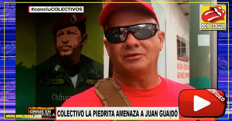 Cabecilla del Colectivo La Piedrita amenaza con las armas a Juan Guaidó