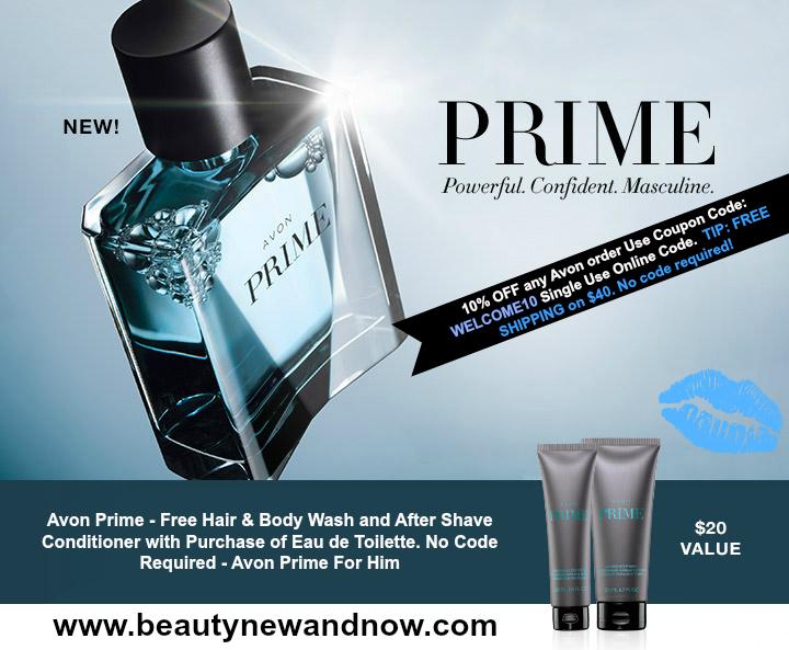 Shop Avon Prime Eau de Toilette Avon Prime - Free Hair & Body Wash and After Shave Conditioner with Purchase of Eau de Toilette