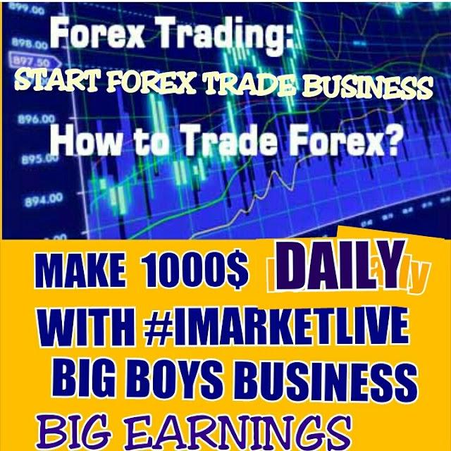 START FOREX TRADE BUSINESS  WORLDWIDE WITH IMARKETLIVE BIG PEOPLE BUSINESS