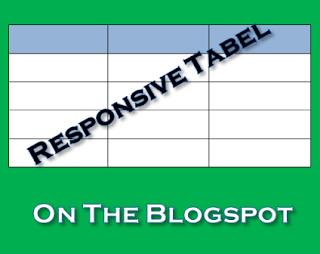 Membuat Tabel Responsive