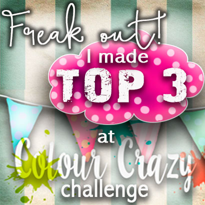 I'm a Top 3 Winner at Colour Crazy Challenge