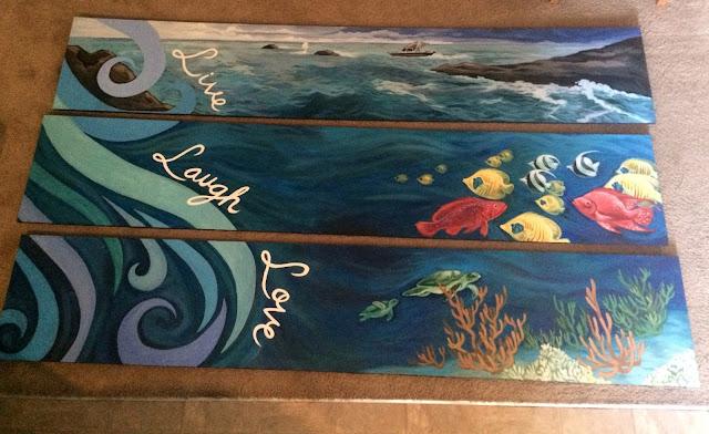 ocean mural, memorial mural, fish mural, portland muralist, portland mural artist
