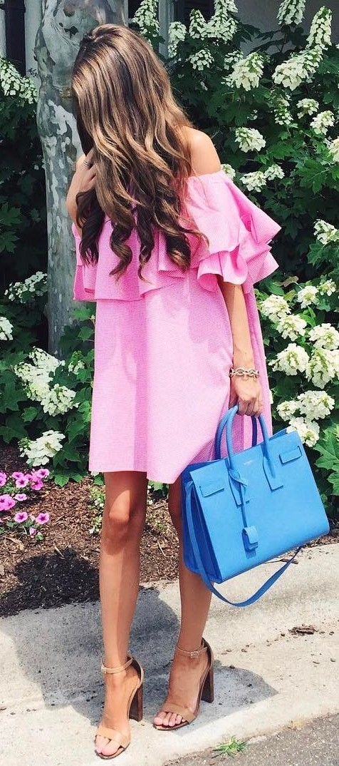 outfit of the day: dress + bag + heels