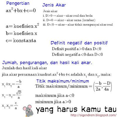 contoh soal persamaan kuadrat