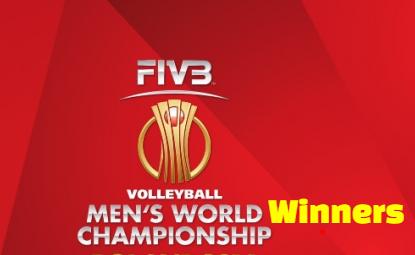 FIVB, Men's, Volleyball, World Championship, champions, teams, list.