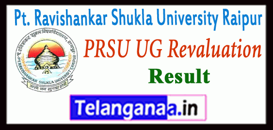 PRSU Pt. Ravishankar Shukla University Raipur Part 1 2 3  BA B.Sc B.Com Revaluation Result