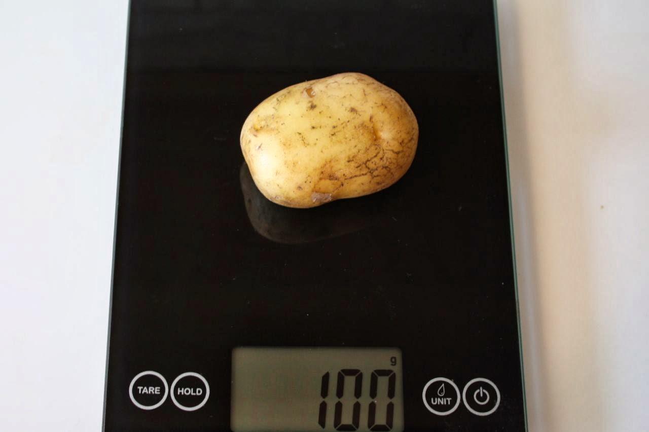 100 Grams Potato, Raw With Skin