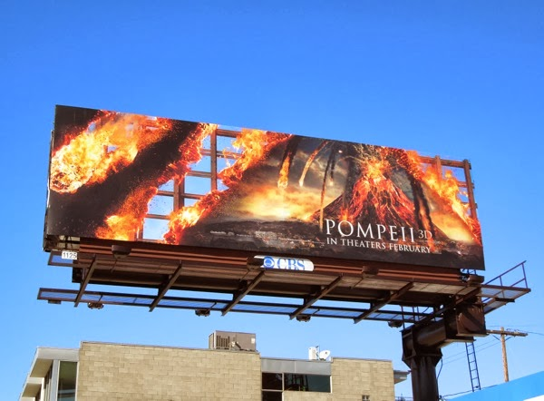 Pompeii 3D movie billboard