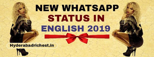 New whatsapp status in english 2018-2019