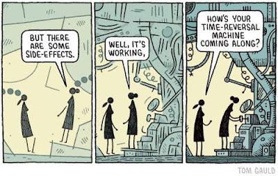 Meme de humor sobre viajes en el tiempo