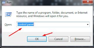 Windows + u >> control panel