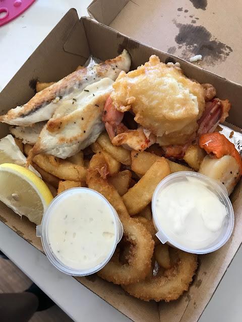 Fish Tank, Brighton, seafood basket