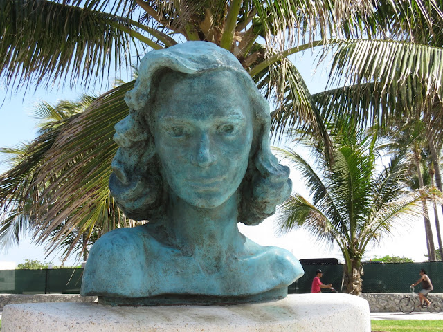 Bust of Barbara Baer Capitman in the Miami South Beach Art Deco Historic District
