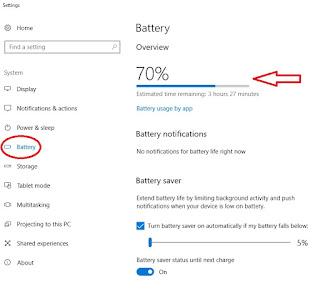 cara memunculkan kembali icon baterai yang hilang di Windows 10