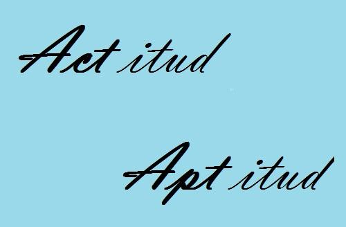 actitud aptitud