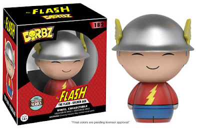 "Specialty Series Exclusive ""Golden Age"" The Flash Jay Garrick DC Comics Dorbz Vinyl Figure by Funko"