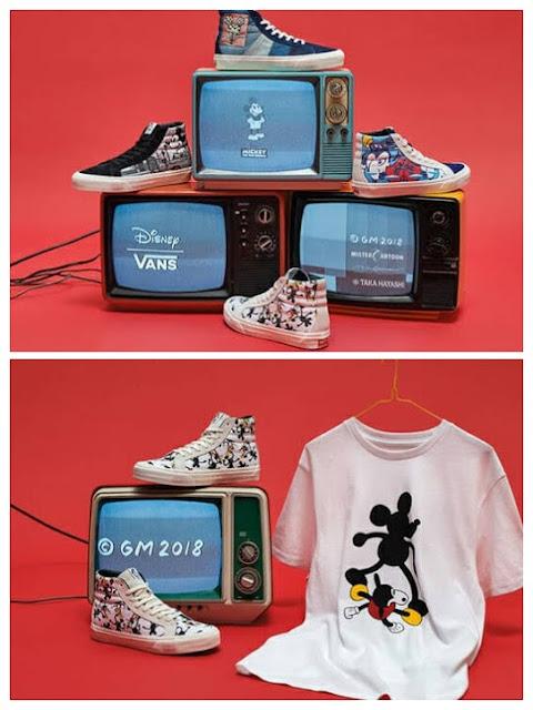 Coleção Vans 90 anos Mickey