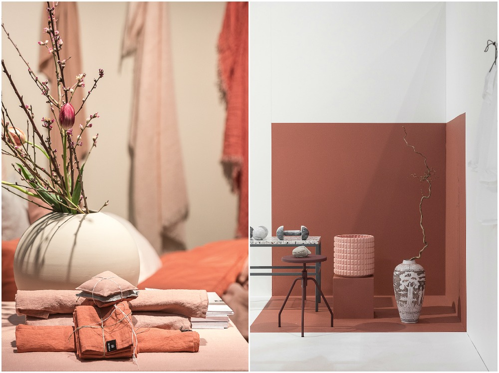 Formex, tradefair, sisustus, sisustaminen, inredning, interior, inspiration, spring, trends, trend, Visualaddict, photography, Frida Steiner, decor, decoration, trends2018, colours, home, colors, green, Himla, linen, salmon, lohenpunainen, terracotta, red