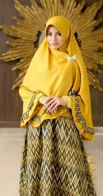 Model Busana Batik Muslim Modern