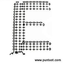 Patrón de letra E de ganchillo