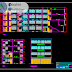 مخطط مشروع عمارة سكنية 3 أدوار اوتوكاد dwg