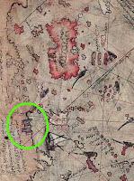 Sección del mapa de Piri Reis