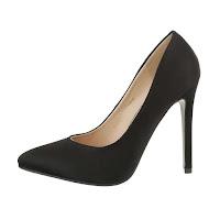 Pantofi eleganti, negri, cu toc inalt