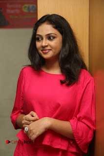 Actress Arundathi Nair Stills in Red Chididar at Bethaludu Success Meet  0034.JPG