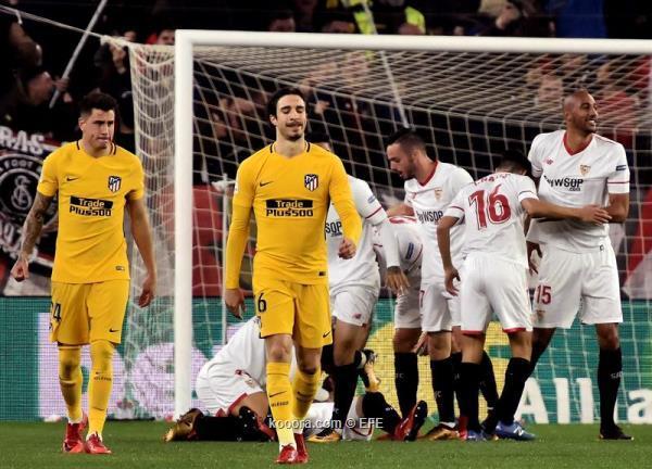 بالصور: إشبيلية يقصي أتلتيكو مدريد ويتأهل لنصف نهائي كأس ...