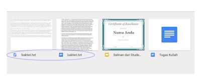Cara Meyimpan File di Google Drive, Cara Meyimpan data di Google Drive
