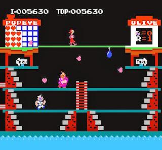 Captura de pantalla : Popeye (Nintendo)