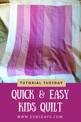 Quick and Easy Homemade Kids Quilt with Fabric Strips and Fleece Backing