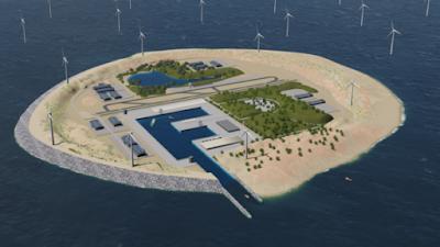 Una illa artificial albergarà el parc eòlic d'Europa