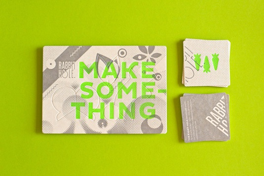 Designs of Letterpress Printing Business Cards